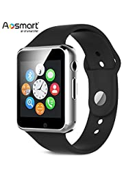 Bluetooth Smart Watch with Camera, Aosmart B23 Smart Watch for Android Smartphones (Black)
