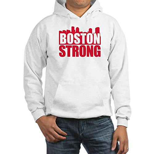CafePress Boston Strong Red Hoodie Pullover Hoodie, Classic & Comfortable Hooded Sweatshirt ()