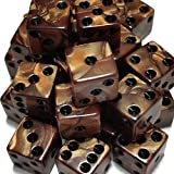 100 Bronze Dice with Black Spots - 16mm 5/8''