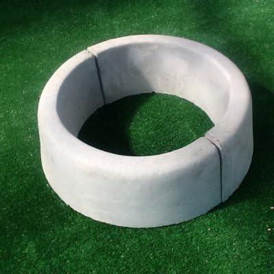 cordolo circular para árbol diámetro int.CM.40 – color gris hormigón: Amazon.es: Jardín