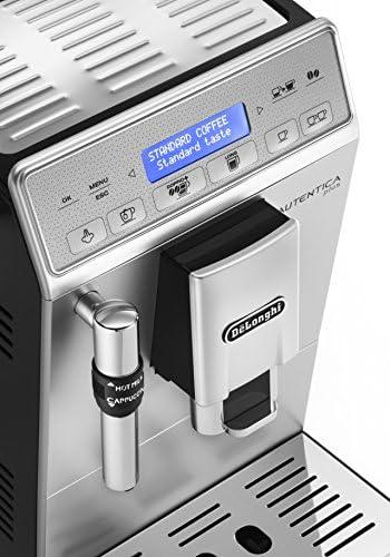 De'Longhi Autentica Plus ETAM 29.620.SB Kaffeevollautomat (1450 W, 1,4 l, Dampfdüse) silber/schwarz