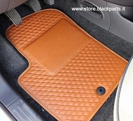 SET TAPPETI AUTO 500 IN PELLE COLOR MARRONE: Amazon.it: Auto e Moto