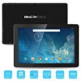 Dragon Touch 10.1 inch X10 Android Tablet 2GB RAM 16GB Nand Flash Android 7.0 Nougat, 10 Inch Quad Core 800x1280 IPS Display with Bluetooth and Micro HDMI GMS Certified