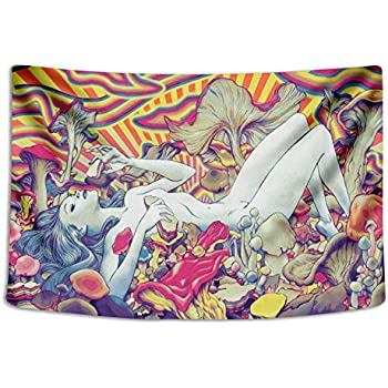 Tapestry Wall Cloth Fabric Hanging Bohemian For Bedroom Dorm Apartment Decoration Live Background Psychedelic Trippy Colorful Trippy Surreal Abstract Astral Digital Hemp Art 153x102cm(60x40inch)(014)