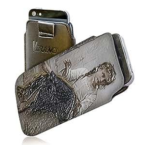 Colección 80, Custom Samsung Galaxy Note 4 Caso Duro Hard Case Carcasa Funda de Piel Leather Flip Case.