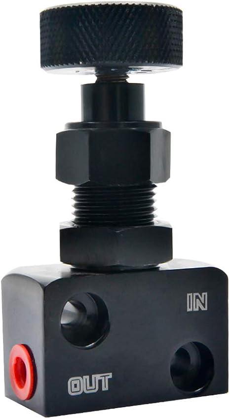 MASO regolatore di Pressione con manopola Regolabile regolatore Universale per la Forza frenante dell/'Auto Colore Nero