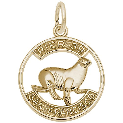 Pier 39 Sea Lion Charm In 14k Yellow Gold, Charms for Bracelets and - Shops Pier 39