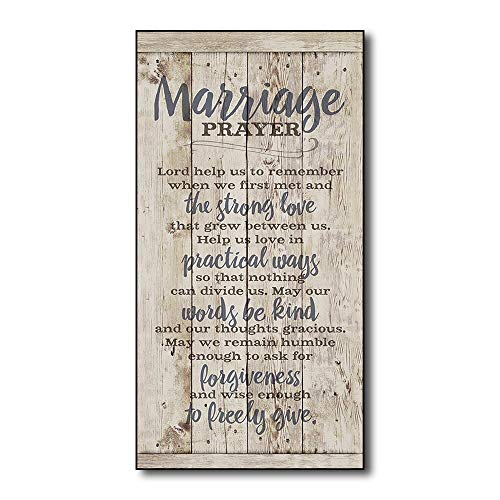 "Tamengi Winston Porter 'Marriage Prayer Rustic Wood Wall Art Home Family Decoration Design Plank Plaque Sign 5""X10"" from Tamengi"