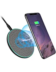 SCCVEE Wireless Charger, Qi-Certified 20W Max Fast Charging Pad with USB-C, Compatible with iPhone 12/11/Pro/XS MAX, Samsung Galaxy S21,S21 Ultra,S21+,S20 fe(No Adapter)