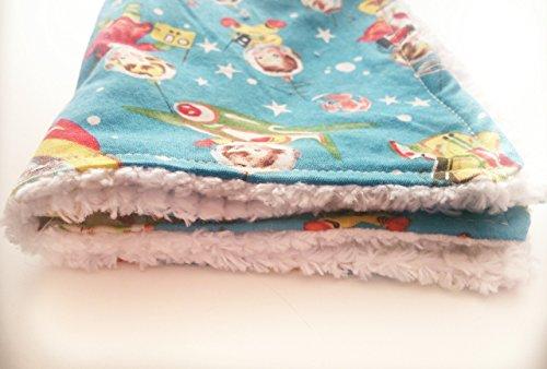 Retro Space Kid Burp Cloth With Chenille Backing. Chenille Bib Burp Cloth