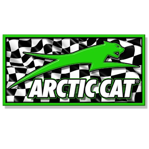 Arctic Cat Banner for sale Green/Checker 2ft x ft. -