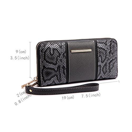 Women V Shoulder Bag Satchel Print Lulu Purse Snake Shape Handbag Grey Tote Miss 5An0EaqTa