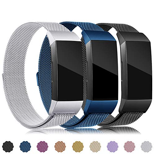 - Find-MyWay Replacement Compatible with Charge 3 Bands/Charge 3 SE Metal Bands Wristband Accessory Magnetic Breathable Sport Bracelet Strap Small & Large for Women Men Silver Rose Gold 10 Colors