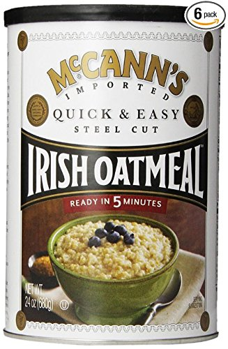 Mccanns Instant Irish Oatmeal - McCann's Steel Cut Irish Oatmeal, Quick & Easy, 24 oz (Pack of 6)