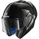 Shark EVO-ONE 2 BLANK - Casco de moto, color negro, talla M