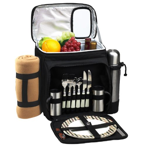 Picnic at Ascot Insulated Picnic Basket/Cooler Fully Equi...