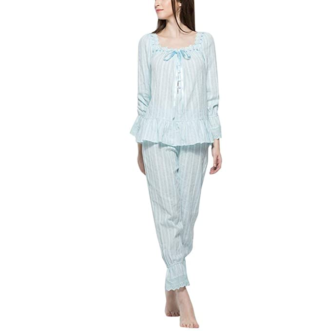 Ropa De Noche Mujer Otoño Primavera De Conjunto Pijama Elegante Modernas Casual Colores Sólidos Manga Larga