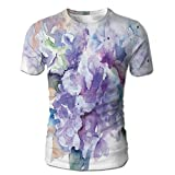 Edgar John Delicate Hydrangea Flowers Blooming Botanical Arrangement Wedding Inspired Men's Short Sleeve Tshirt XL