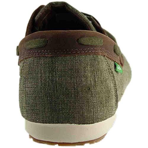 Chaussure Bateau Vendange M De Casa Hommes Sanuk, Noir, 9,5 Uk Olive / Millésime