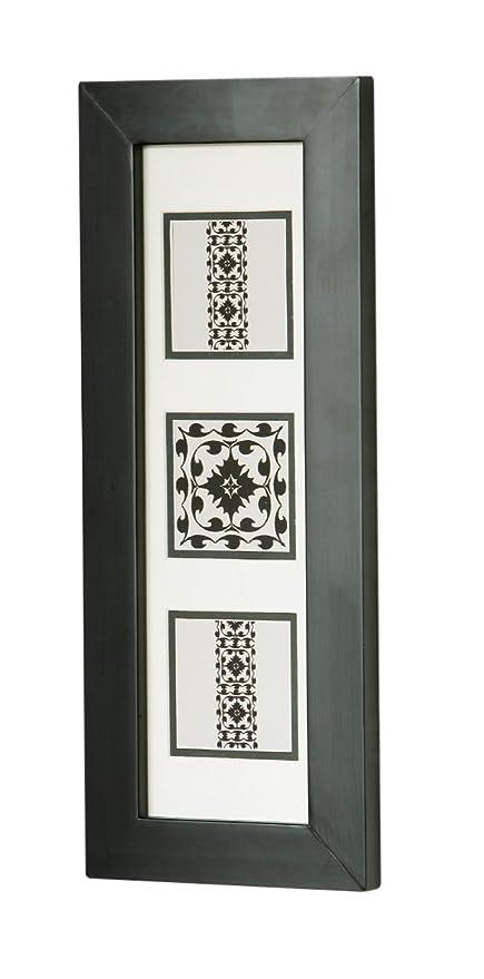 Premier Housewares Modern Flock Picture in Frame - 50 x 20 cm, Cream ...