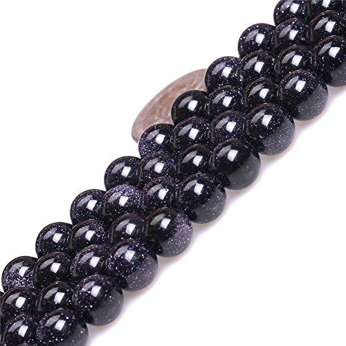 Blue Sandstone Beads for Jewelry Making Gemstone Semi Precious 8mm Round 15