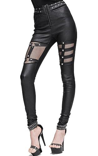 Devil Fashion – Pantalón – para mujer negro negro 44