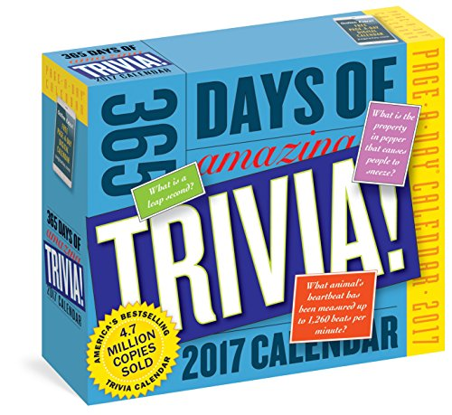 365 Days of Amazing Trivia! Page-A-Day Calendar 2017 cover