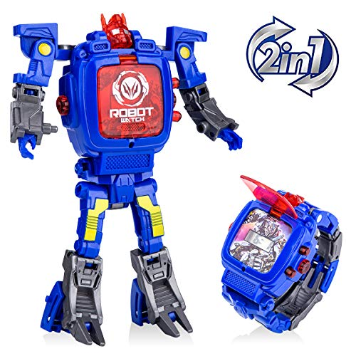 Robot Watch Toys Deformed Watch Toy Deformation Robot Toys Kids Digital Watch for Kids Christmas Halloween New Year's Gift. -
