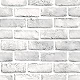 #4: BCDshop 3D Wall Decals Brick Stone Rustic Effect Self-adhesive Wall Sticker Home Rom Decor DIY Mural Art