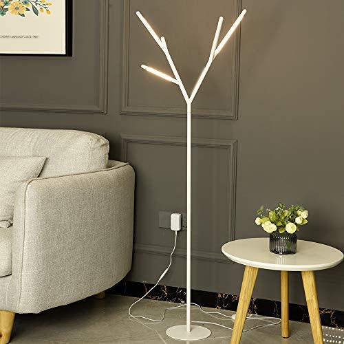 LED Floor Lamp Modern Antler-Shaped Lights 55 Inches Tall
