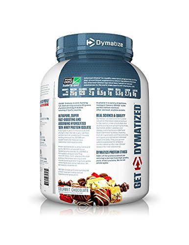Dymatize ISO 100 Whey Protein Powder Isolate, Gourmet Chocolate, 3 lbs