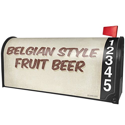 NEONBLOND Belgian Style Fruit Beer, Vintage Style Magnetic Mailbox Cover Custom Numbers