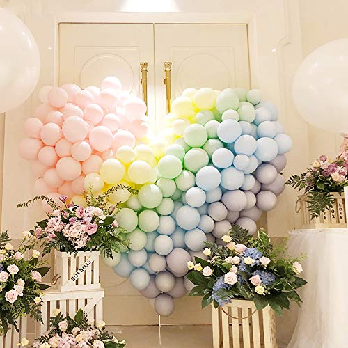 40pcs Macaron Candy Colored Latex Balloon,Party Decorations Set Combined Balloons,Pink Purple Blue Yellow Latex Balloon for Birthday Party Wedding Ceremony Decoration Baby Shower Supplies ()