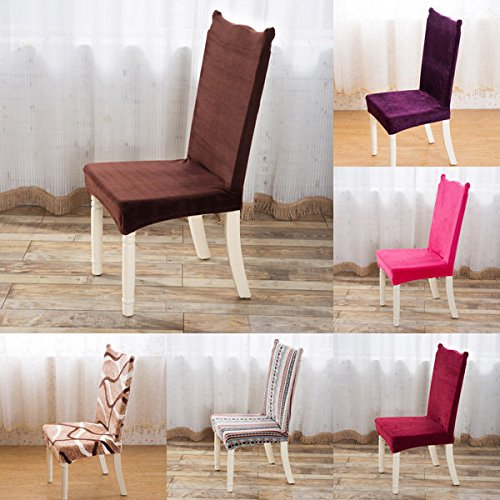 Chairwoman Underwrite - Plush Thicken Elastic Stretch Spandex Chair Seat Cover Party Dining Wedding Decor - Lead Concealment Cut Electric Enshroud Moderate Shroud Spread - 1PCs