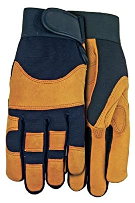 MidWest Gloves and Gear Midwest Gloves and Gear MX410-M-AZ-6 Max Performance Goatskin Work Glove, Medium