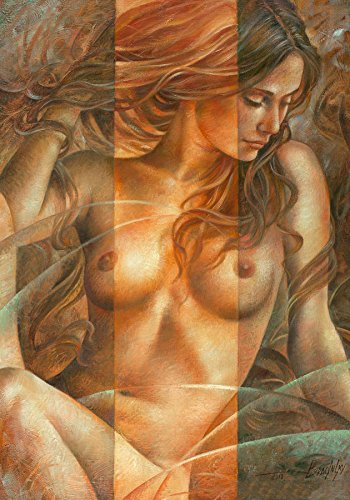 Kungfu Art Handmade Nude Oil Painting Naked Woman Sexy Lady Canvas Naked Body Wall Art for Living Room Bedroom Home Decorartion 100% Hand-Painted Unframed/Not Ready to ()