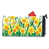 Magnet Works Daffodils In Bloom Original Magnetic Mailbox Wrap Cover