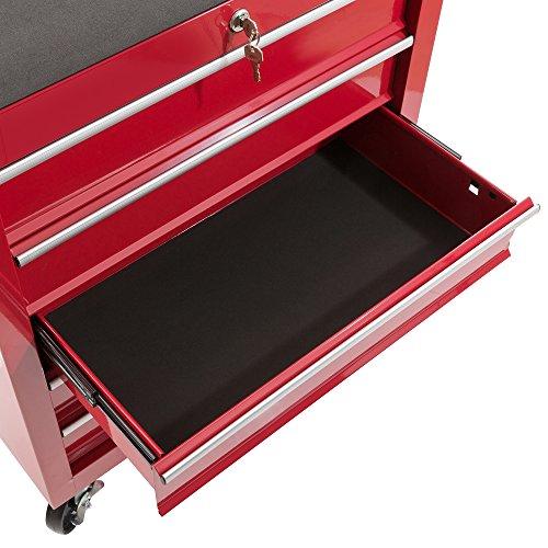 Arebos - Carrito para herramientas con 5 cajones y cierre (rojo)   Amazon.es  Industria f4aa791f828b