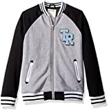 True Religion Little Boys' Varsity Jacket, Heather Grey, 5