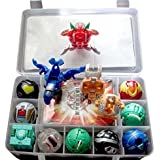 9 Bakugan Toy All Different + 9 Metal Cards with Bakucase for great Gift and Collection