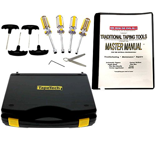 Photo TapeTech Drywall Taping Tools Maintenance Kit with Master Repair Manual for Tapers, Angle Heads, Flat Boxes, Pumps, Rollers & More