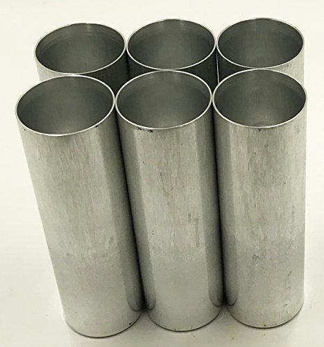 Aluminum Seamless Candle Mold - Candlewic 6pk of 2 x 6. 5