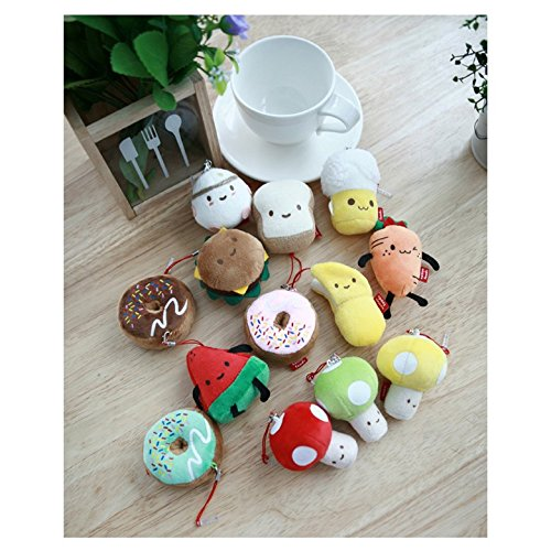Mushroom Jack - Anti-Dust Plug Food Fruit Snack Cellphone Charm Plush Toy (Mushroom (Red))