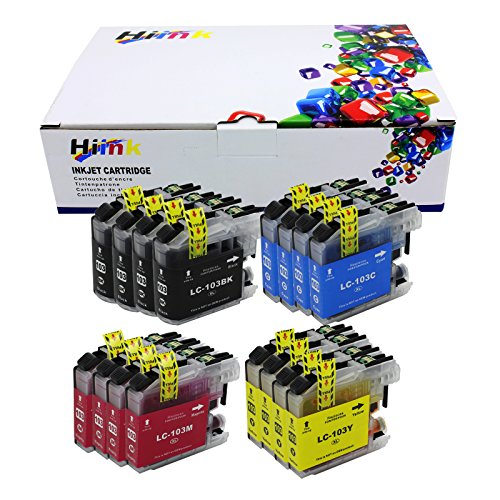 - HIINK LC103XL Ink Cartridge Replacement for Brother LC-103 MFC-J245 MFC-J285DW MFC-J450DW MFC-J475DW MFC-J650DW MFC-J870DW MFC-J875DW Printer, Pack of 16