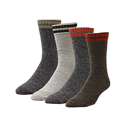 - High Sierra Action-Dry Boot Socks - Assorted Colors, Size 10 -13 / Shoe Size 6 - 12.5 - 4 Pairs