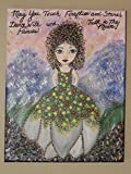 Beautiful hand painted piece of original acrylic art. 11 X 14 canvas, ready to hang. Fairy Queen. Saying: May you touch fireflies and stars, dance with faeries and talk to the moon.