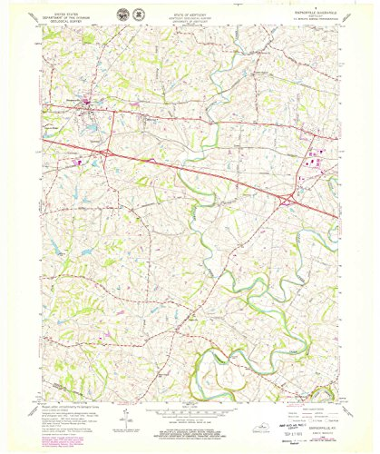 Simpsonville KY topo map, 1:24000 scale, 7.5 X 7.5 Minute, Historical, 1960, updated 1979, 27.5 x 23 IN - - Ky Simpsonville