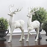 "RAZ Imports Christmas Winter 12.5"" Glittered Deer Set of 2"