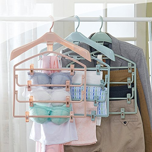 LIANGJUN Clothes Hangers Hooks Multifunctional Trousers Clip