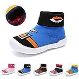 zhenghewyh Baby Boys Girls Toddlers Slippers Floor Walkers Shoes Socks Soft Cozy Non Skid Indoor House Sneakers Blue 5 UK